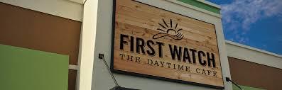 First Watch sign