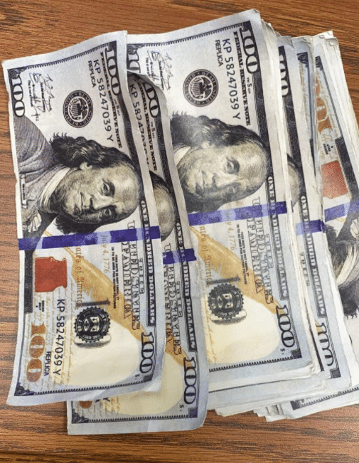 Counterfeit money found along US 23 in Pikeville on 5-3-21