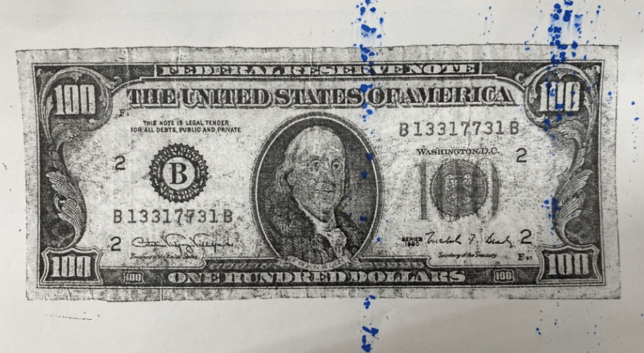 Counterfeit $100 bills circulating in Grayson and Olive Hill