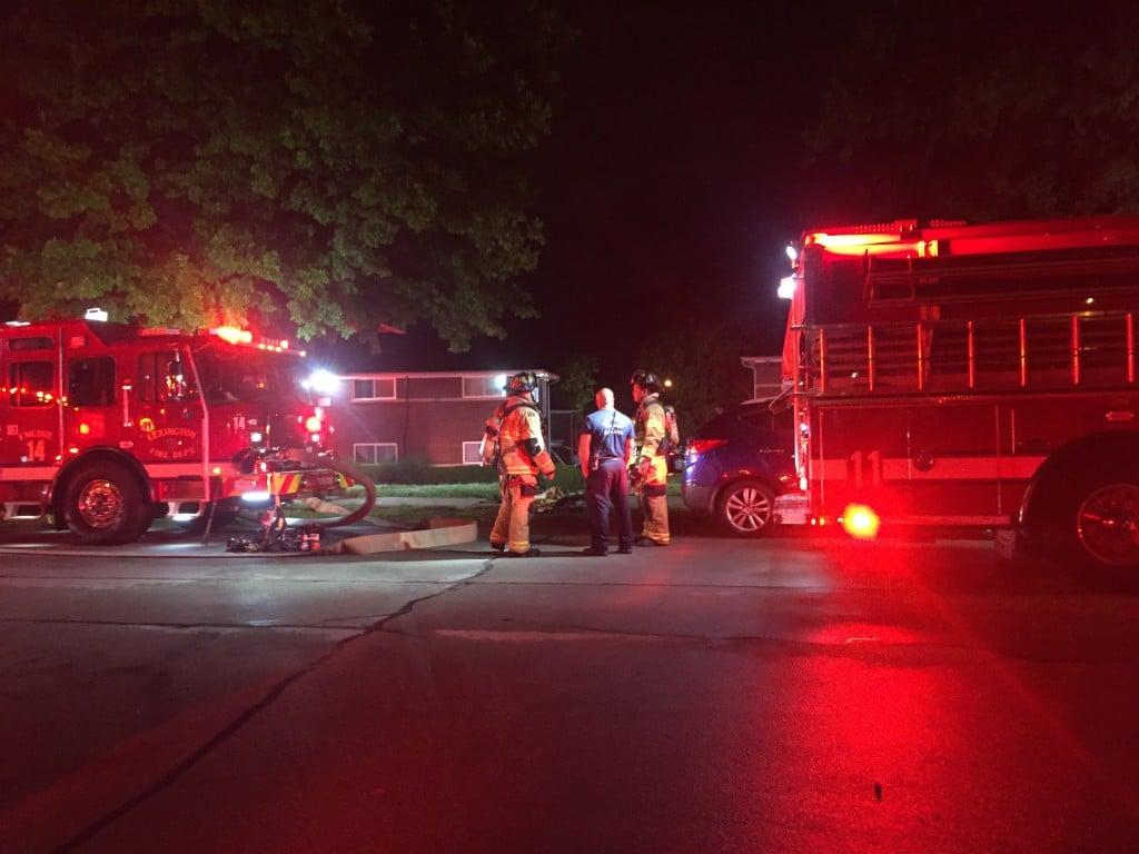 Apartment fire at 1037 Cross Keys Road in Lexington 7-8-21