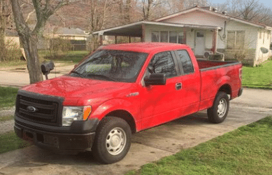 Ford F-150 with custom exhaust stolen from downtown Stanton on 7-24-21