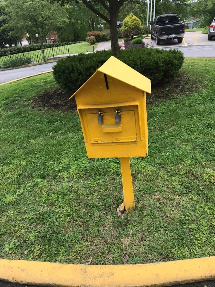 Drop box outside Middlesboro City Hall for bill payment