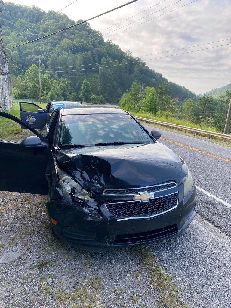 DUI hit-and-run on KY 15 in Whitesburg on 8-12-21