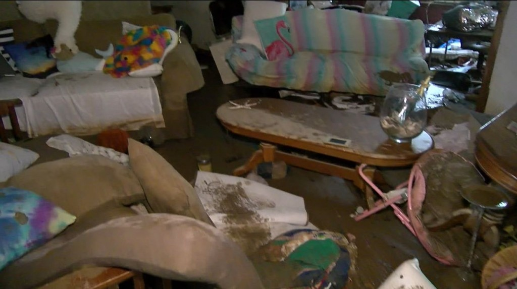 Ruby Peyton's home was destroyed in a flood in Wolfe County on 8/19/21