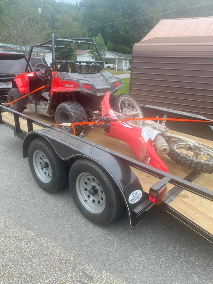 Side-by-side and dirt bike stolen in Johnson County recovered in Martin County.  Two juveniles and an adult arrested and charged...stolen vehicles returned to rightful owners.