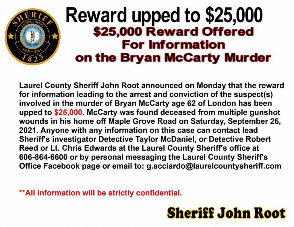 Murder Investigation Off Maple Grove Road 9 25 21 Update 25000 Reward Offered