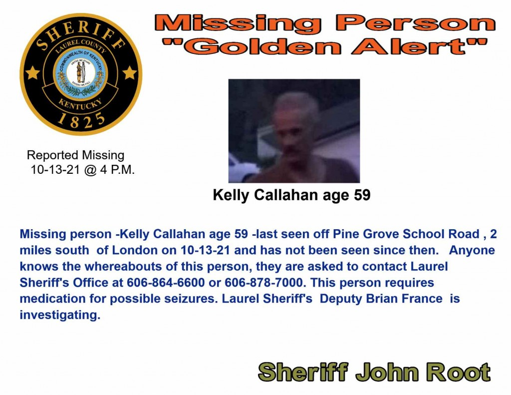 10 13 21 Reported Missing Person Kelly Callahan Fb 1139 Update Golden Alert