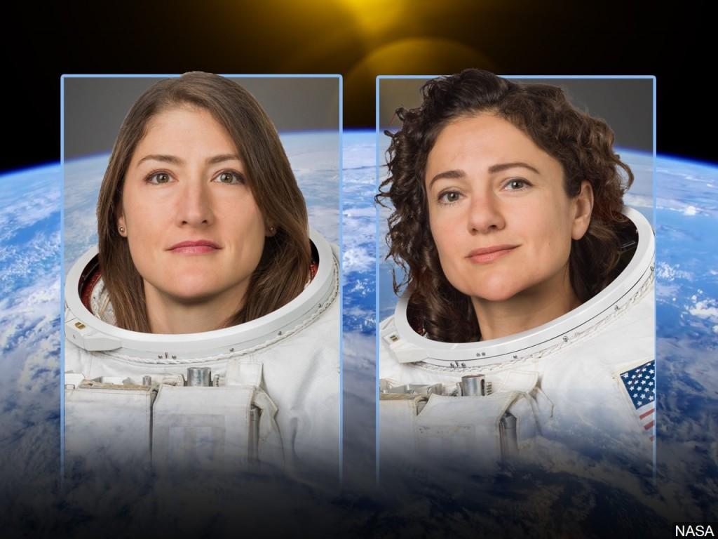 Astronauts Jessica Meir and Christina Koch. Photo: NASA