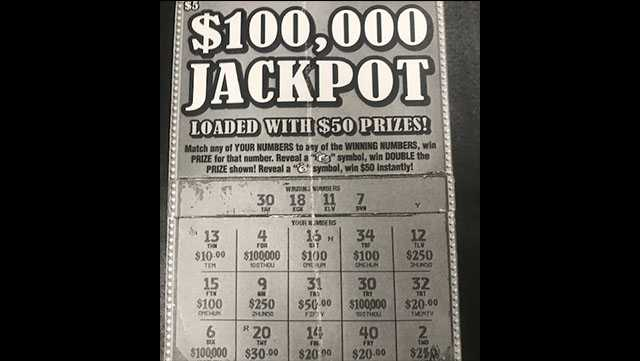 Fake scratch-off lottery ticket. Source: Flowood Police Department.