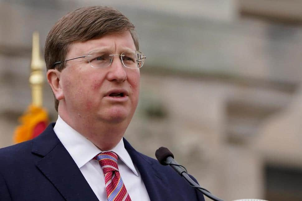 Mississippi Gov. Tate Reeves speaks about his policy priorities and the state's coronavirus pandemic response during his State of the State speech on Tuesday
