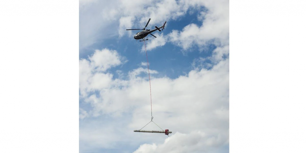 The USGS will be using the CGG RESOLVE helicopter system to gather geophysical information related to the Mississippi Alluvial Plain to continue aquifer mapping. (Source: USGS/Burke Minsley)