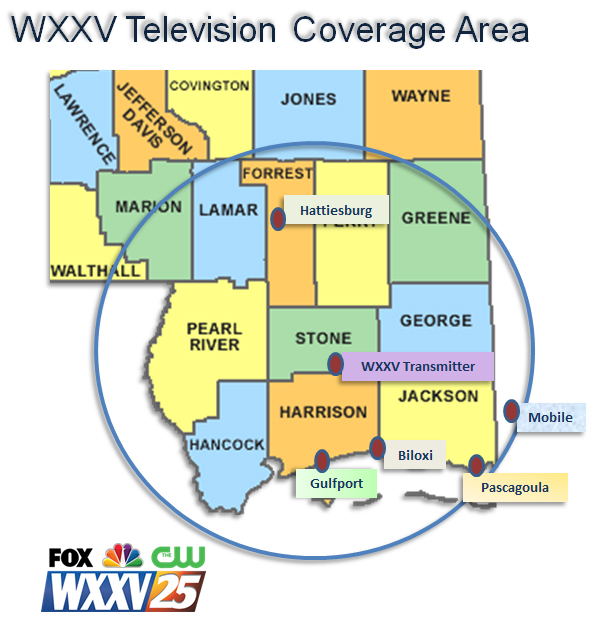 Coverage Area Map Website