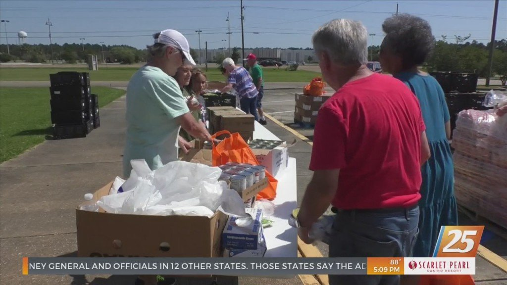Free Food Distribution At Gautier First United Methodist Church