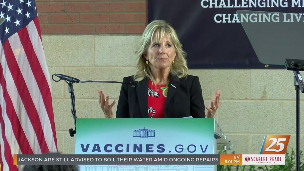 Untitledfirst Lady Jill Biden Visits Mississippi To Discuss Vaccinations