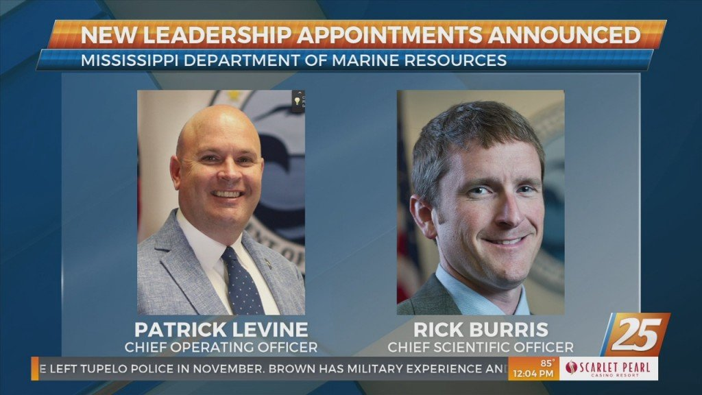 Mississippi Department Of Marine Resources Announces New Leadership Appointments