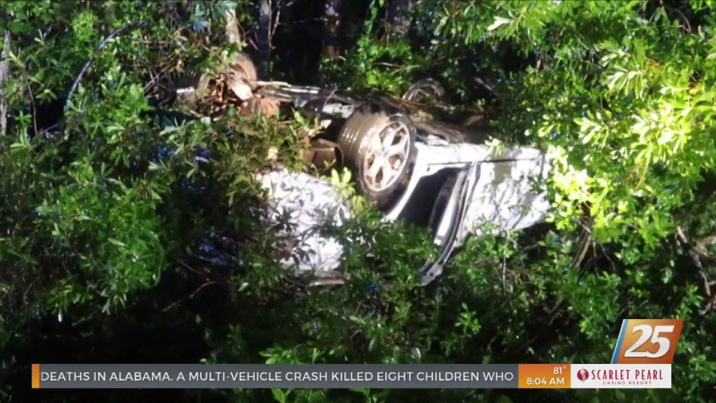 Driver Rescued From Overturned Vehicle In Harrison County