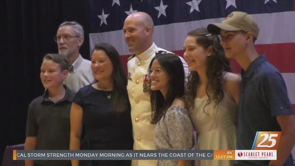Change Of Command Ceremony For Seabees