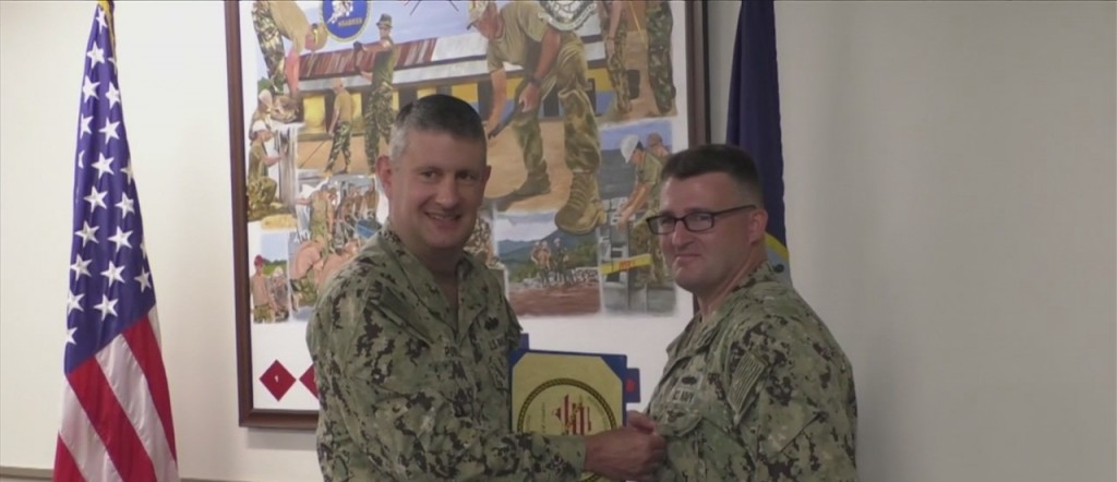End Of Tour Award Ceremony At Naval Construction Battalion Center