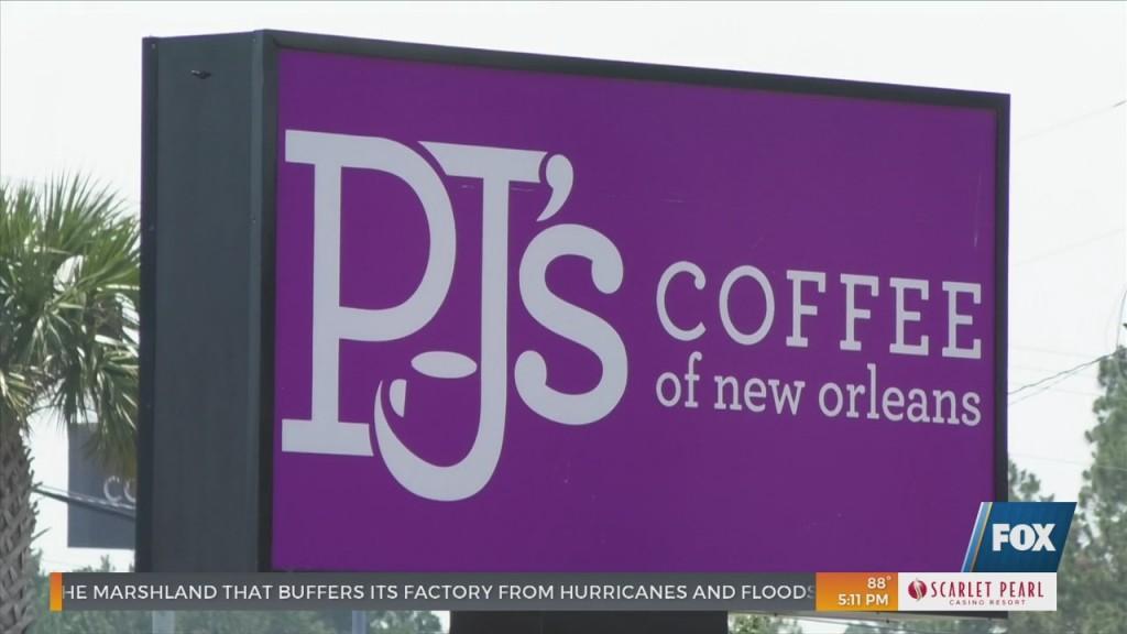 Pj's Coffee Of New Orleans Cuts The Ribbon In Ocean Springs