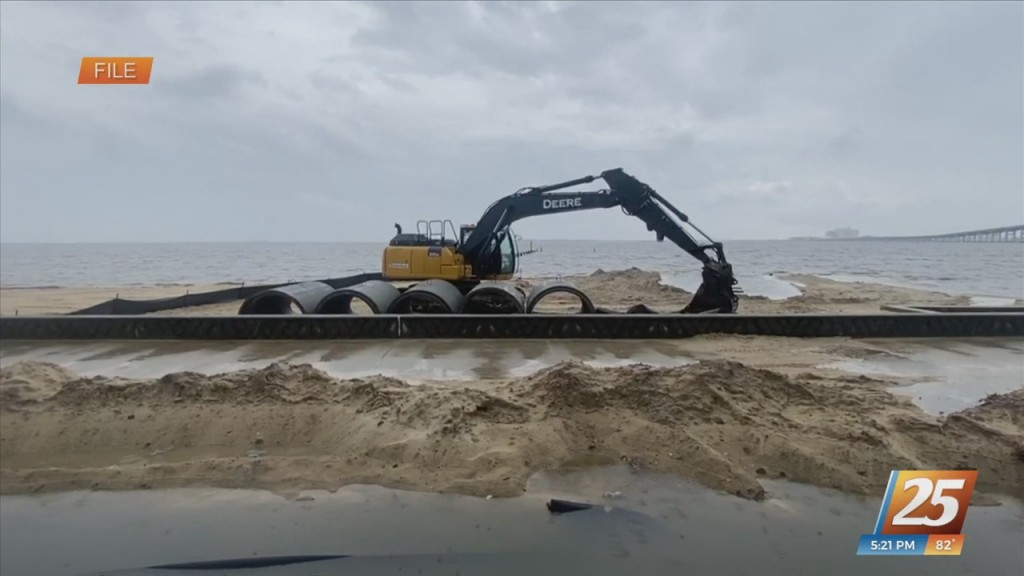 Improvements Being Made On Front Beach In Ocean Springs