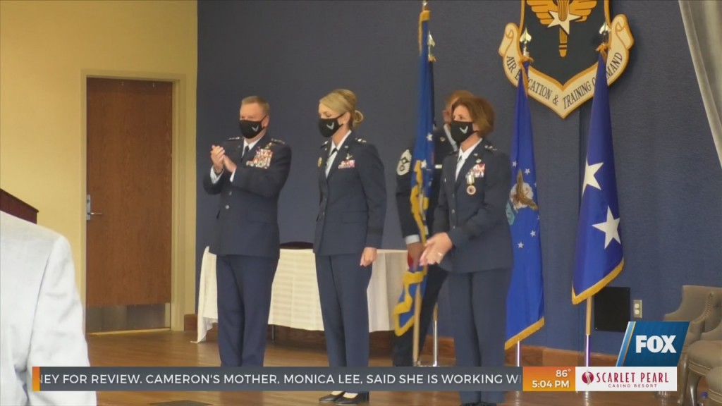 Change Of Command Ceremony At Keesler Air Force Base