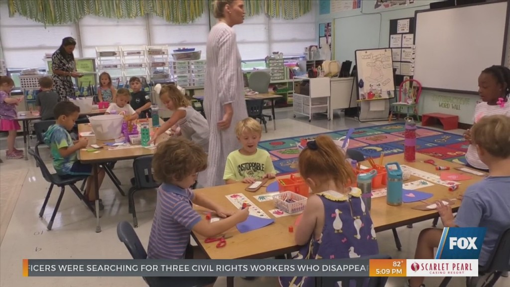 Bayou View Elementary Holds Kindergarten Camp To Help Ease Kids Into School Year