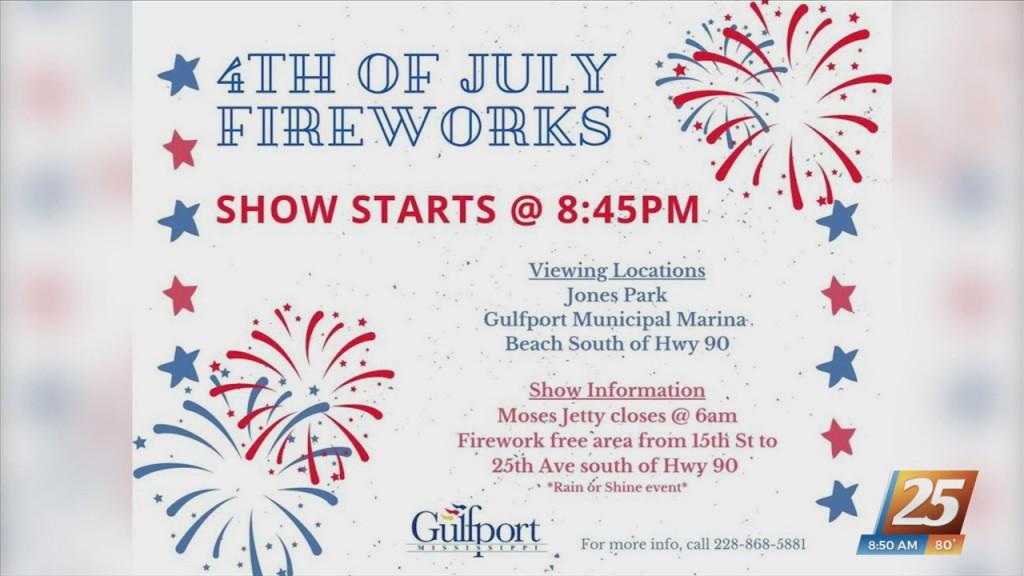 Fourth Of July Firework Celebration In Gulfport