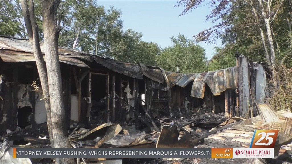 Ocean Springs House Destroyed In Fire On Tuesday