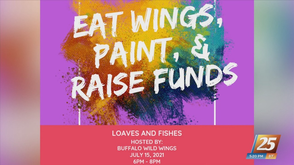 Eat Wings, Paint, And Raise Funds For Loaves And Fishes