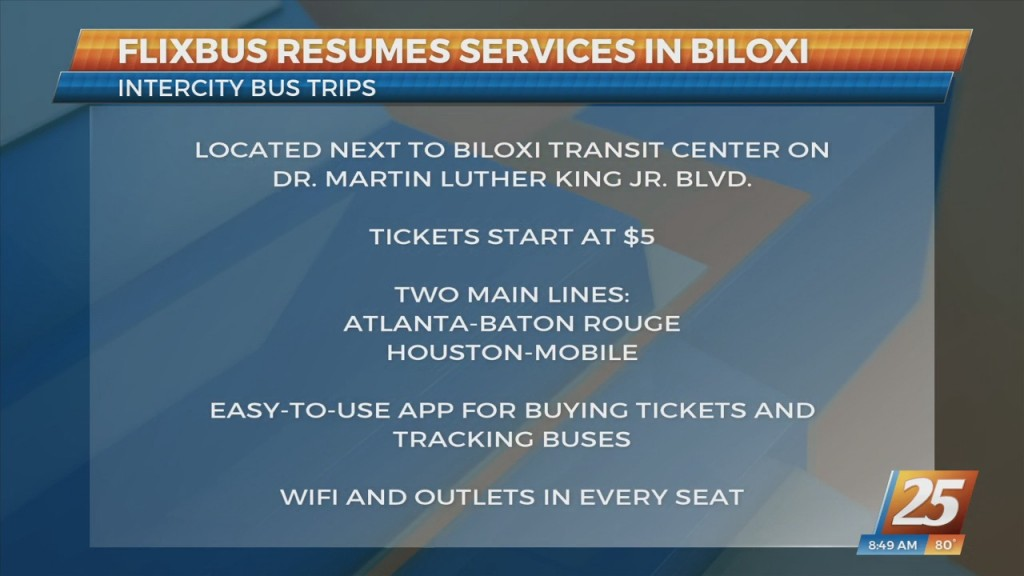 Flixbus Resumes Service In Biloxi