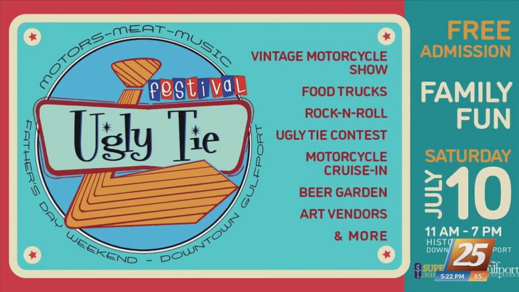 'ugly Tie Fest' Happening This Saturday In Downtown Gulfport