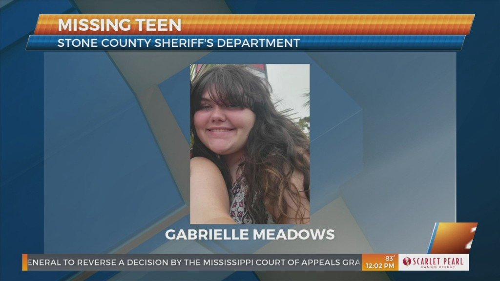 Stone County Sheriff's Department Searching For Missing Teen Gabrielle Meadows