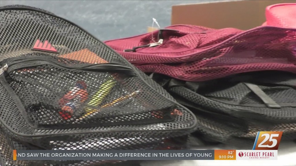 Backpack Giveaway For Local Students At St. Paul United Methodist Church In Moss Point