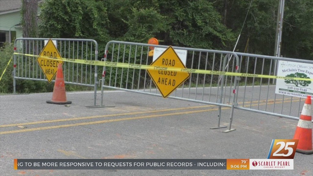 Government Street In Ocean Springs Closed Until Tuesday At 5 P.m.