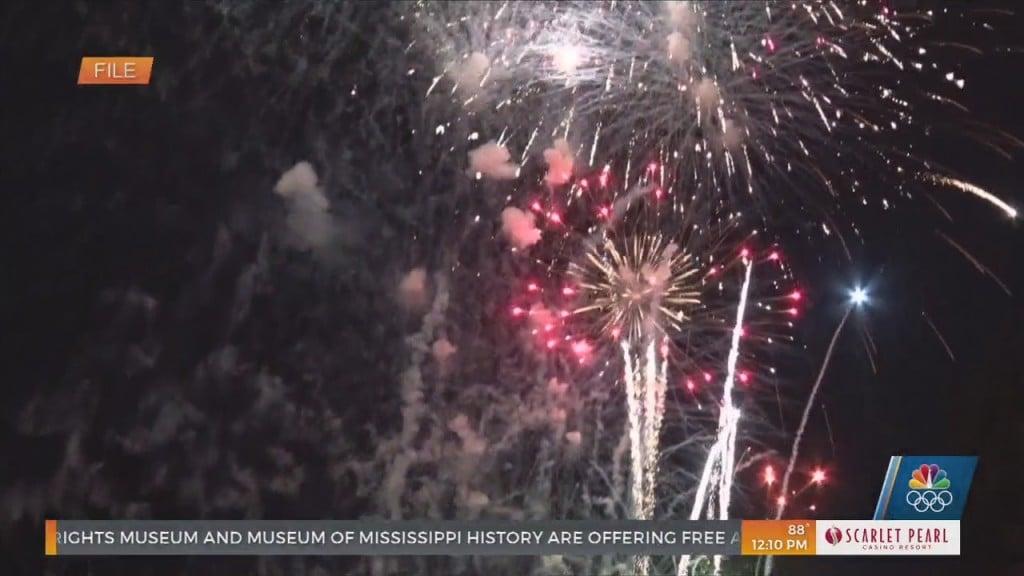 City Of Gulfport Fireworks Display At Jones Park