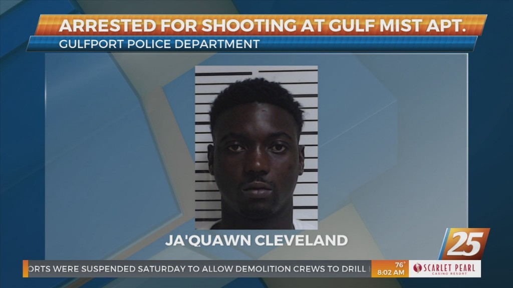 Arrested For Shooting At Gulf Mist Apartments In Gulfport