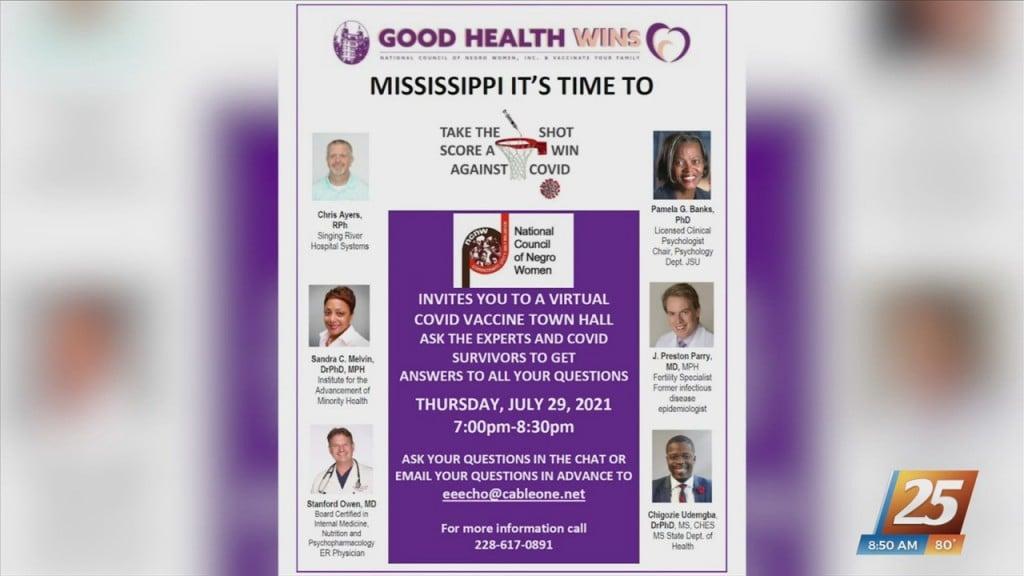 Virtual Covid Vaccine Town Hall Tomorrow Night