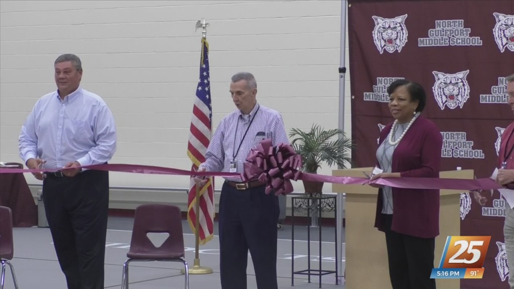 Dedication Ceremony For Updated North Gulfport Elementary And Middle School