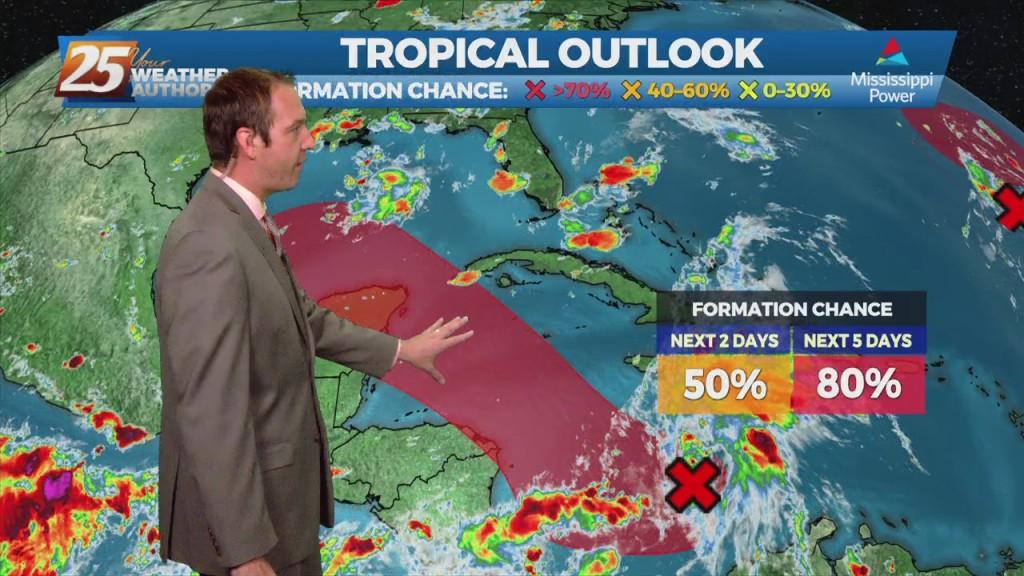 "08/25 Ryan's ""tropical Update"" Wednesday Evening Forecast"
