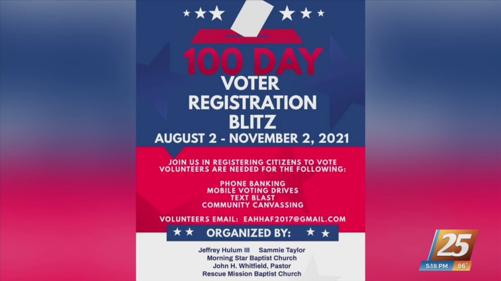 100 Day Voter Registration Blitz