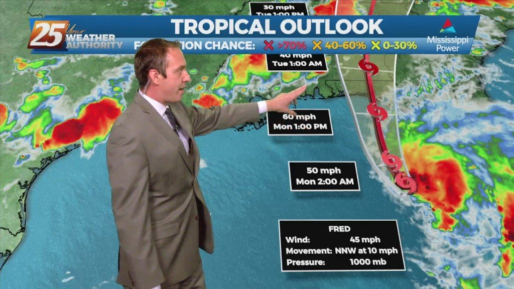 "08/15 Ryan's ""ts Fred Update"" Sunday Night Forecast"