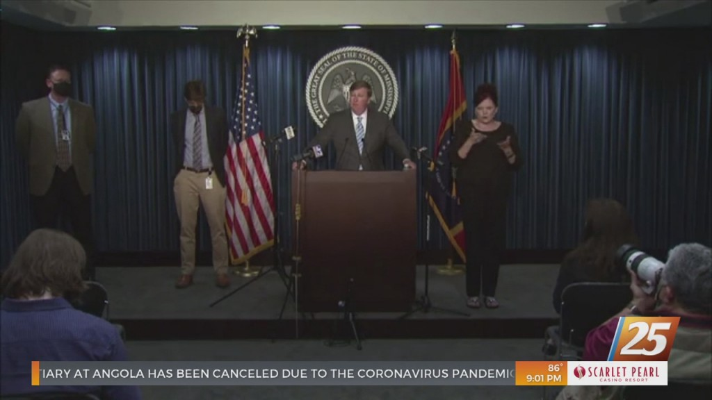 Governor Reeves Holds Covid 19 Press Conference