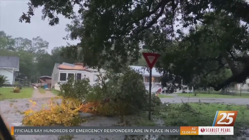 Possible Tornado Damage In Gulfport