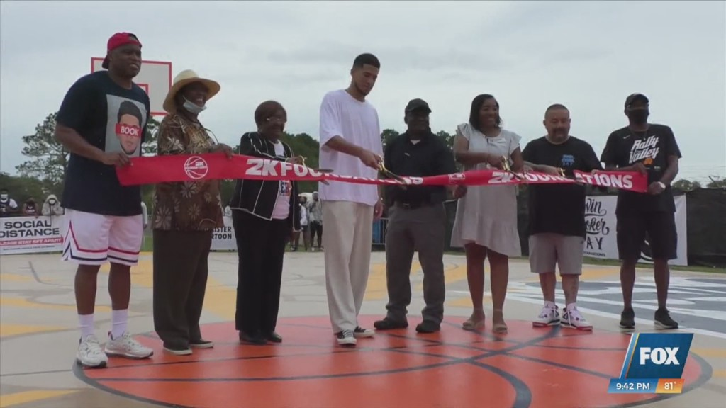 Devin Booker Returns To Moss Point And Unveils New Basketball Courts