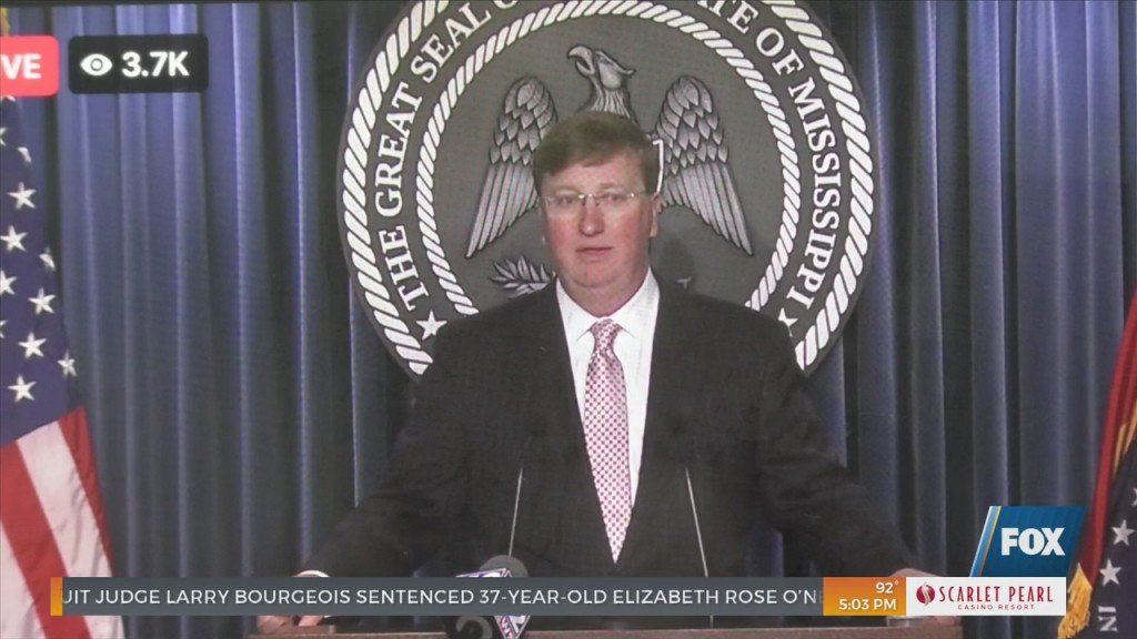 Governor Tate Reeves Holds Covid 19 Press Conference
