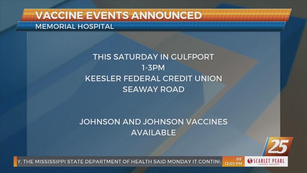 Memorial Hospital Announces Vaccine Events