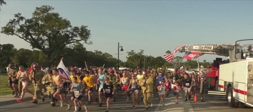 Gulf Coast Residents Run To Remember 9/11 Victims