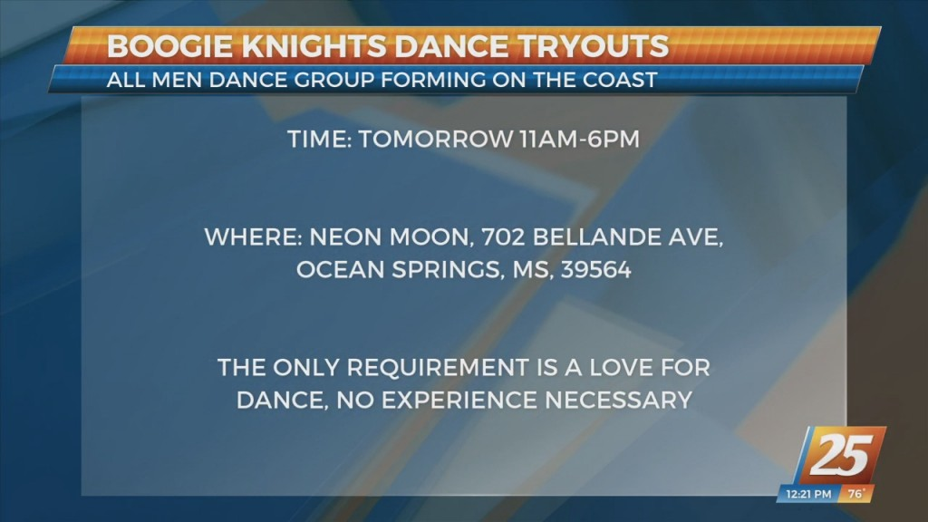 Boogie Knights Dance Tryouts