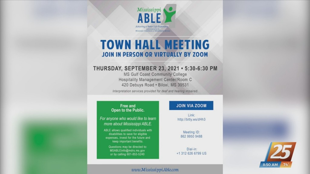 Mississippi Able Hosting Town Hall Tomorrow
