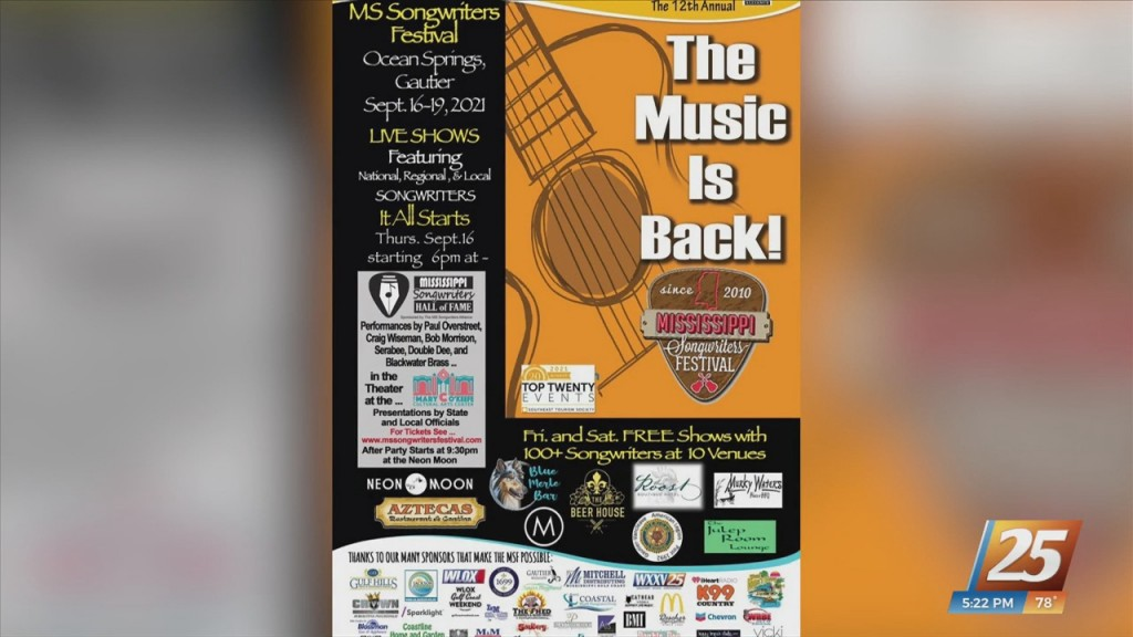 Coast Towns Gear Up For Mississippi Songwriters Festival